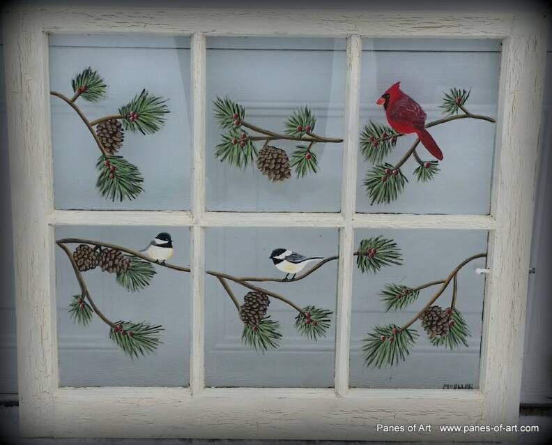 Painting On Glass Windows : Panes of art barn quilts hand painted windows window