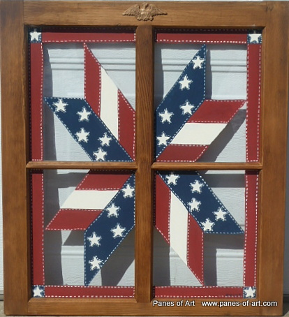 \ Window Quilt II\  Price USD $110.00 Status Available Size (inches. \  & Panes of Art Barn Quilts Hand Painted Windows Window Art ...