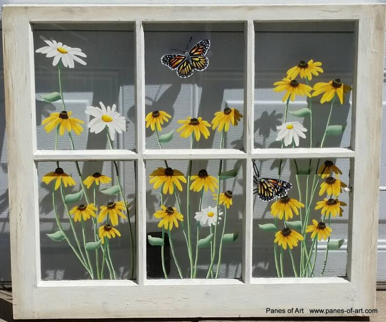 panes of art barn quilts hand painted windows window