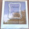 "Kendall & Jamison Wedding Memory Window Price, USD:  Status: SOLD Size (inches): 31 1/4""h x 27 3/4""w Media: Paint on Glass NOTE: Design created by friend's of bride & groom."
