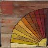 """Grandmother's Fan"" barnquilt pattern Price, USD: $130.00 Status: AVAILABLE Size : 3ft x 3ft  Media: Paint on old barn wood. NOTE:"