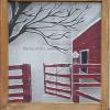 """Old Barn Gate"" Price, USD: $150 Status: AVAILABLE Approx.Size (inches):27 3/4""w x 29 1/2""h   Media: Paint on glass NOTE:"
